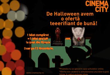 De Halloween, 2 bilete la preţ de 1, la Cinema City