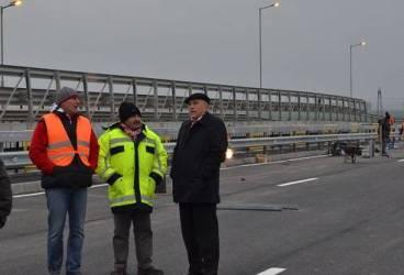 Mircea Cosma anunţă repornirea traficului pe podul de pe Centura de Vest