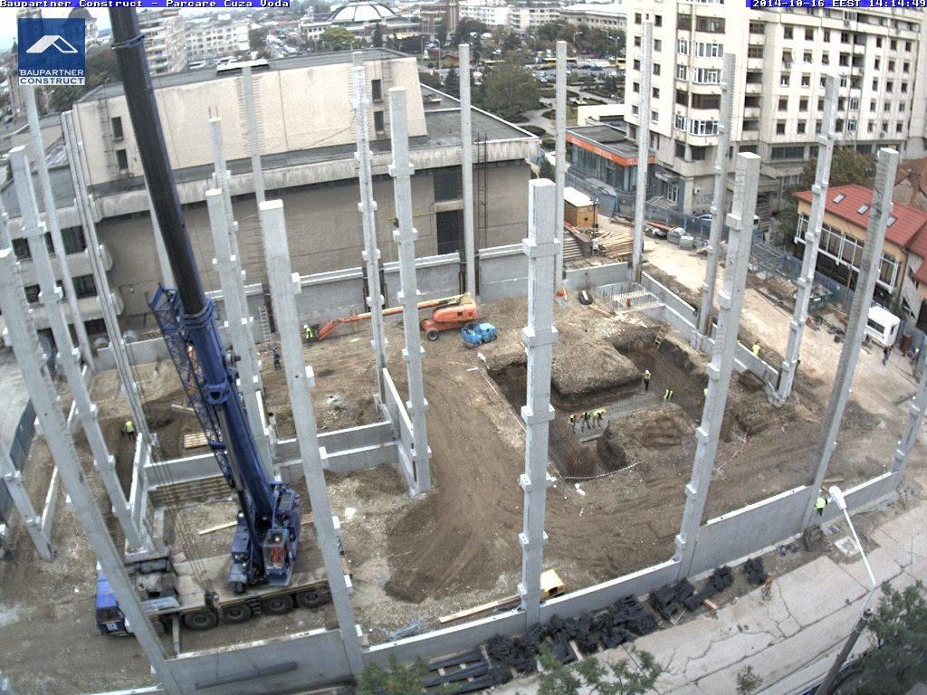 Urmăreşte în timp real lucrările la parcarea supraterană de pe strada Cuza Vodă