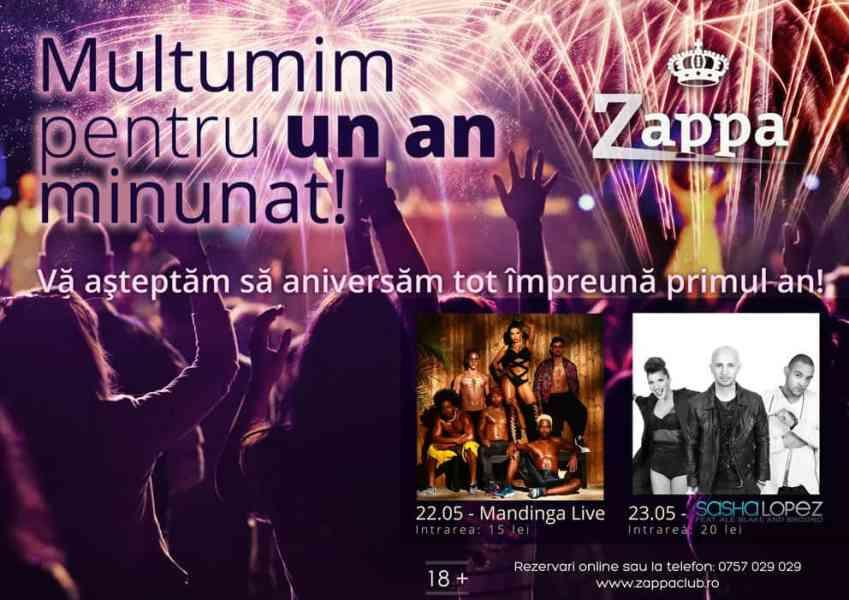 Clubul Zappa împlineşte un an. Cine cântă la aniversare