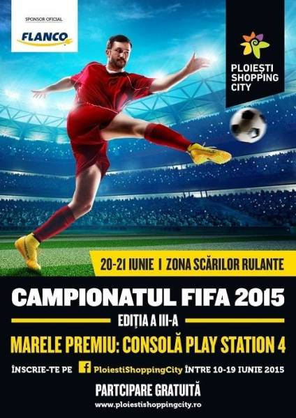 Campionat de FIFA 15 la Ploieşti Shopping City
