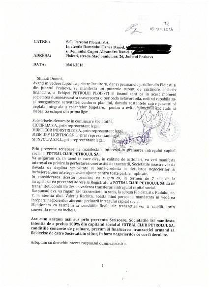 S-a făcut primul pas oficial pentru cumpărarea acțiunilor de la SC FC Petrolul. Acum e acum!