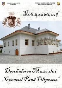 deschidere Conacul Pană Filipescu