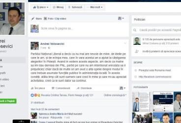 Volosevici şi-a anunţat demisia din PNL