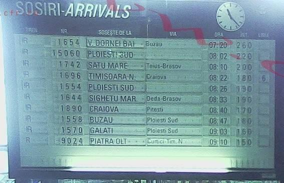 Trenurile au întârzieri de sute de minute