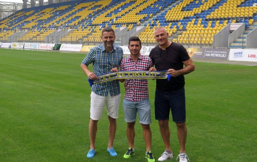 Alexandru Cristian Ciopcalteu impreuna cu Cristi Vlad si Tavi Grigore, Facebook FC Petrolul