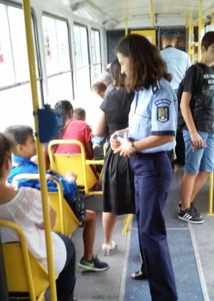 Acţiune pentru prevenirea furturilor din buzunare în autobuzele TCE Ploieşti