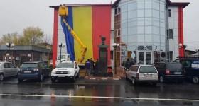 Cel mai mare tricolor din Prahova – desfăşurat la Bucov de Ziua Naţională