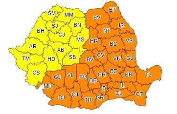 Cod portocaliu de ger în Prahova, până pe 1 martie