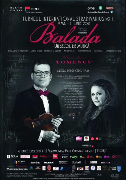 """Recital Cameral – """"Balada, un secol de muzică"""" în Turneul Internațional Stradivarius"""