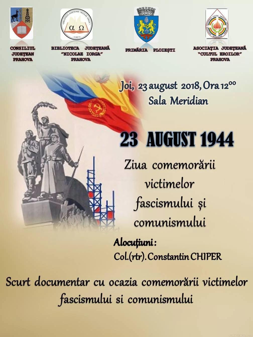 23 August, din Ziua Naţională a ajuns Ziua Comemorării Victimelor Fascismului şi Comunismului