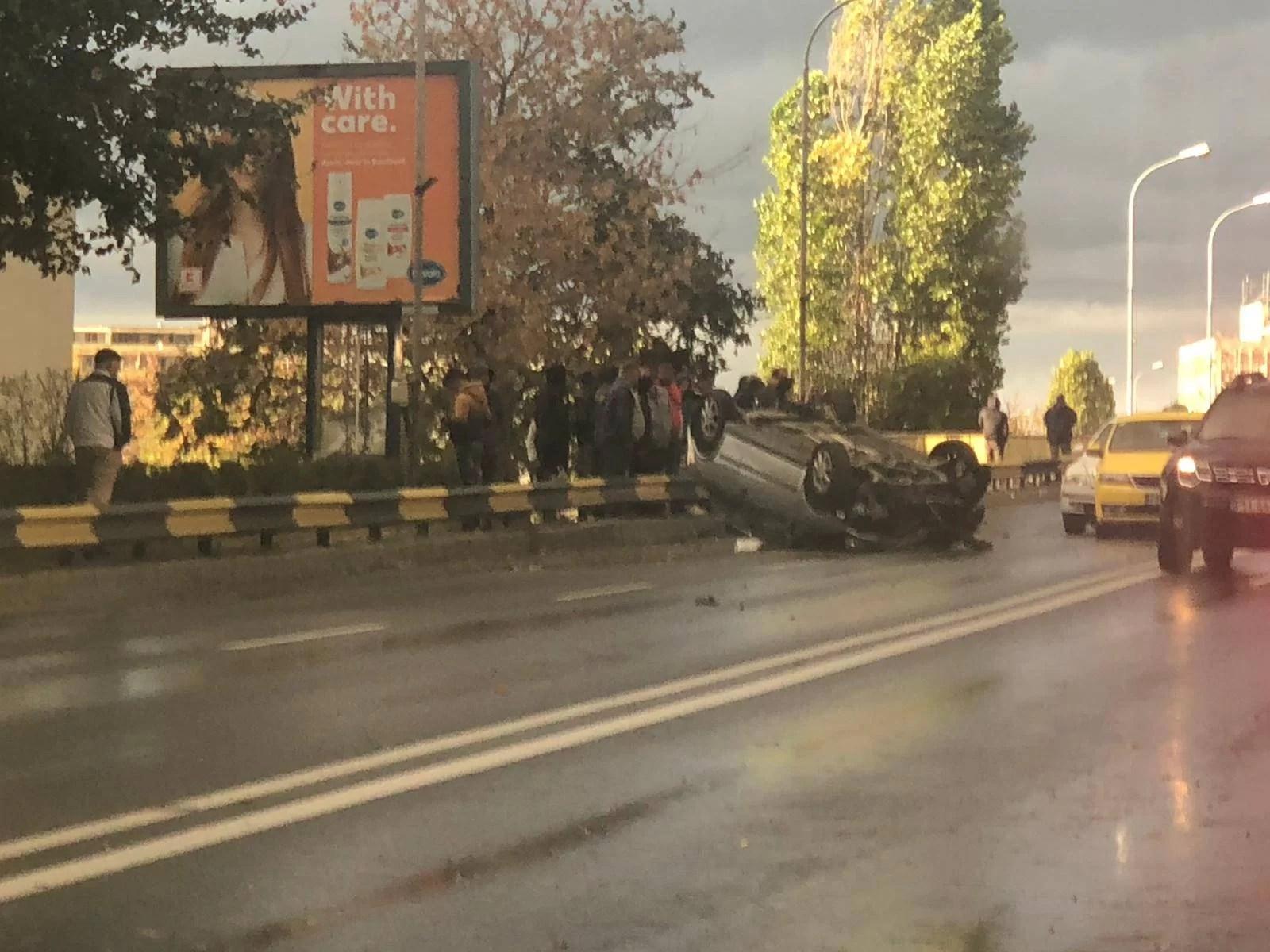 5 maşini s-au ciocnit pe Podul de la Sud