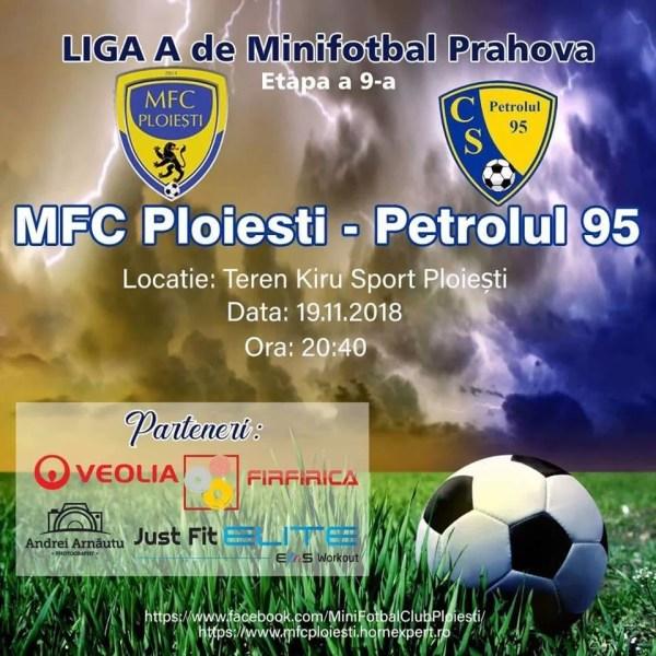 MFC Ploiești, ultimul meci din 2018 contra echipei patronului bazei sportive care găzduiește campionatul LMF Prahova