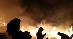 Arde pădurea de la Comarnic