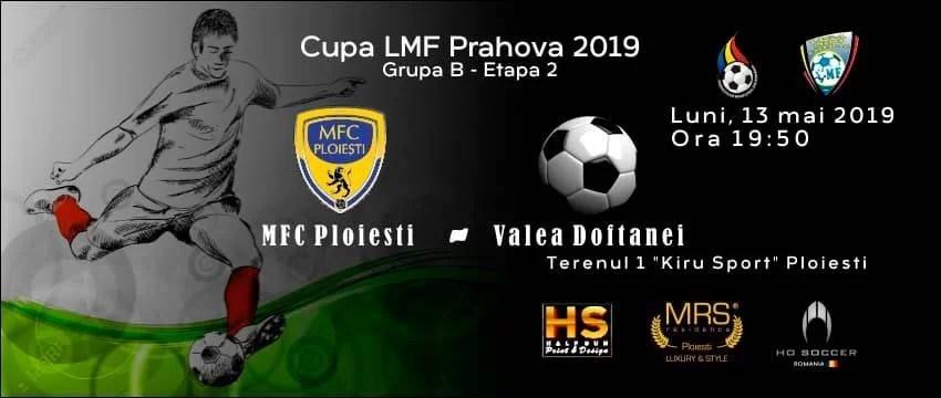 Dacă se va impune, astă-seară, în dauna echipei Top Valea Doftanei, MFC Ploiești se va califica în semifinalele fazei județene a Cupei României