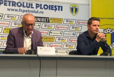 Stan și Stoican au apărut în fața presei ca președinte, respectiv antrenor ai Petrolului. După 3 ani, reunirea nu mai are loc pe arena Ilie Oană!