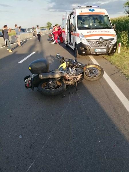 Motociclist accidentat pe DN1, la Movila Vulpii