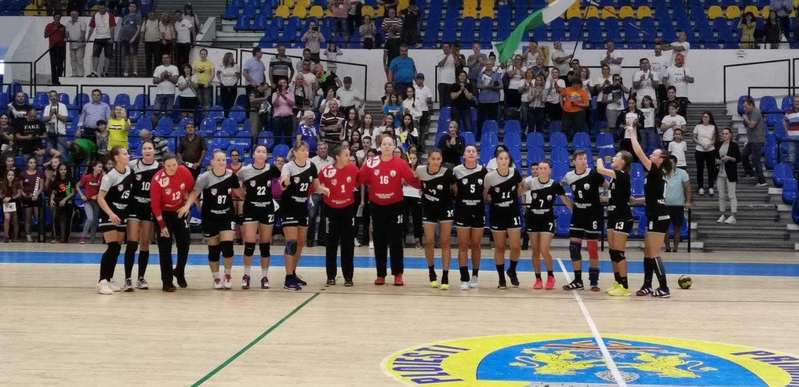 Echipa de handbal feminin a Consiliului Județean Prahova a debutat cu o victorie la scor, în noul campionat al Diviziei A