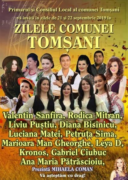 21-22 septembrie – Zilele comunei Tomşani