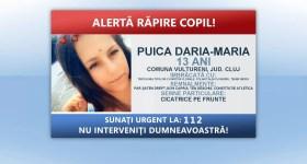 Poliţia caută o minoră răpită de un bărbat rudă cu ea