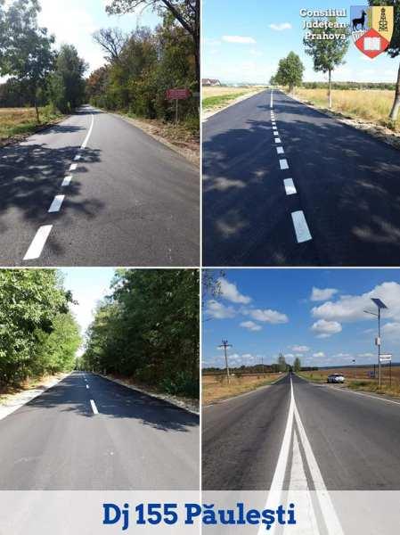 Şoseaua din Pădurea Păuleşti, modernizată şi asfaltată