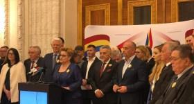 Graţiela Gavrilescu, prim-vicepreşedinte şi dr. Ion Luchian, preşedinte Filiala Prahova, Partidul Forţa Naţională