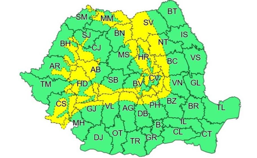 Atenţionare meteorologică în Prahova: cod galben de vânt