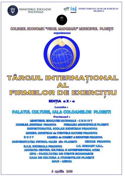 """Colegiul Economic """"Virgil Madgearu"""" organizează online Târgul Firmelor de Exerciţiu"""
