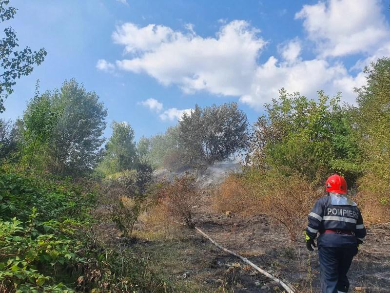 Incendiu la rampa de gunoi de la Băneşti (imagini)
