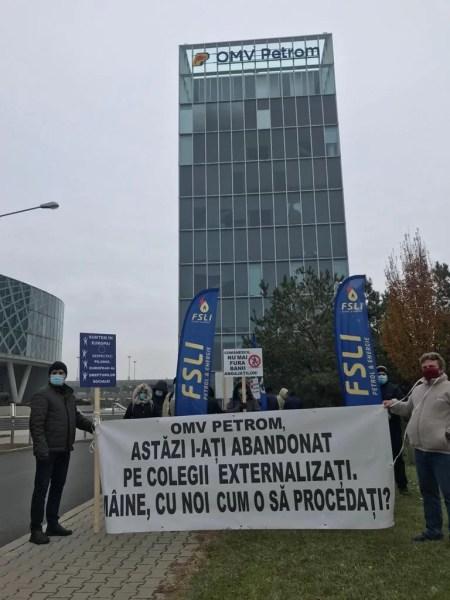 F.S.L.I. Petrol-Energie a pichetat astăzi principalele sedii OMV Petrom și GSP Holding