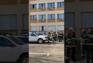 Exercițiu ISU în caz de incendiu la Spitalul Județean