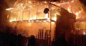 Incendiu de amploare la Sângeru