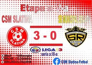 Fotbal: CSM Slatina - SR Municipal Brașov 3-0