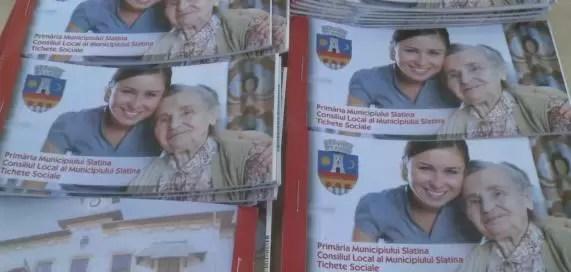 ticheteeee Peste 5700 de slătineni vor primi tichetele sociale oferite de primăria Slatina