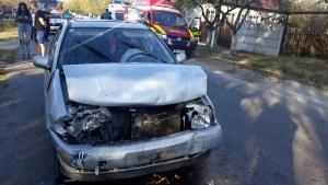 Accident rutier cu victime într-o comună din județ