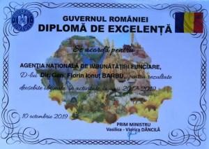 Florin Barbu, felicitat de Guvernul României