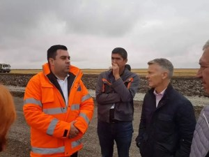 Răzvan Cuc în inspecție pe Drumul Expres Craiova-Slatina-Pitești