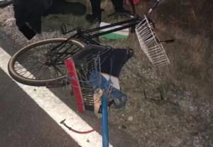 Un biciclist băut a fost implicat într-un accident rutier