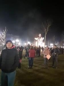 Sute de slătineni au sărbătorit Revelionul în Parcul Tineretului