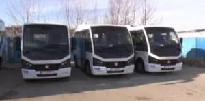 Trei microbuze noi la Loctrans