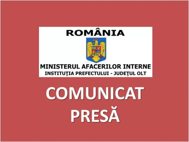 Comunicat-Presa-2020 Actualizare situaţie epidemiologică – Judeţul Olt