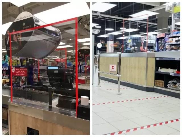 kaufland-protectie Kaufland instalează geamuri de protecție la casele de marcat