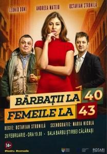Bărbaţii la 40, femeile la 43 - invitație la teatru