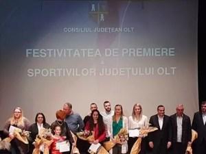 Sportivii olteni premiați de CJ Olt