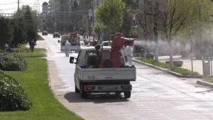 Slatina: Campania de dezinfecție stradală continuă pentru a patra săptămână consecutiv