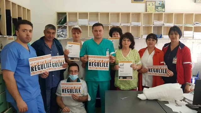 mita-sju Medicii din SJU Slatina refuză 'MITA' lui Iohannis