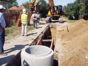 Încep lucrările la rețeaua de canalizare din Vișina