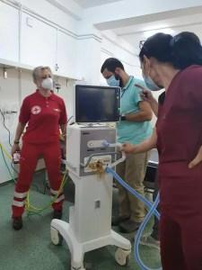 Ventilator mecanic DONAT Spitalului din Caracal de Crucea Roșie Olt