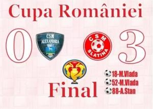 CSM Slatina, victorie în Cupa României