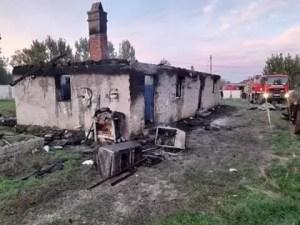 Incendiu puternic în comuna Ghimpețeni
